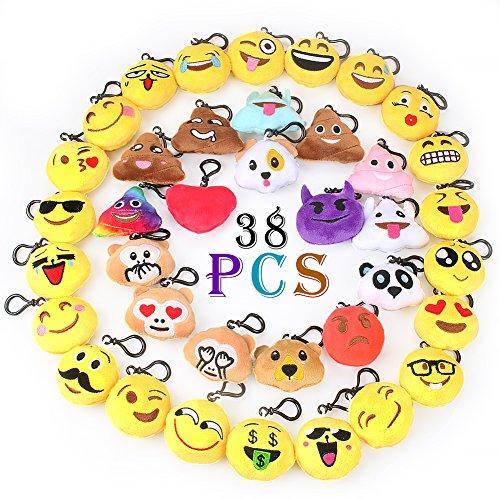 Emoji Keychain Decorations Emoji Party Favors Kids' Toy (38pcs pack)