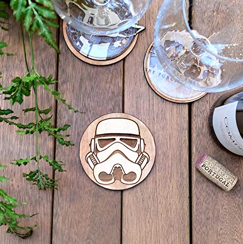 Golden Ball HP Wood Coaster