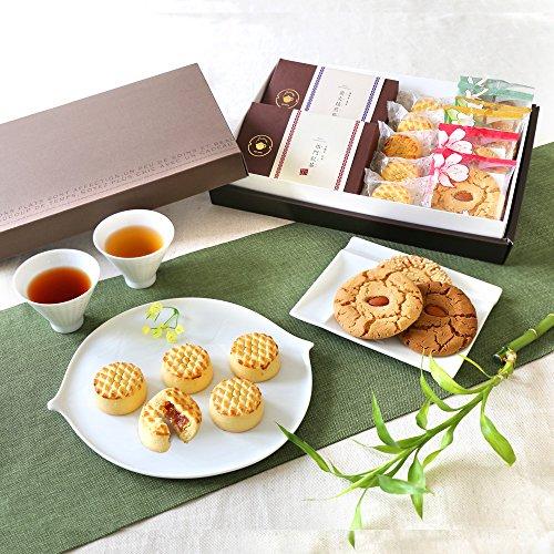 満天ギフト パイナップルケーキとクッキー 烏龍茶&紅茶セット (【D】結びきり)