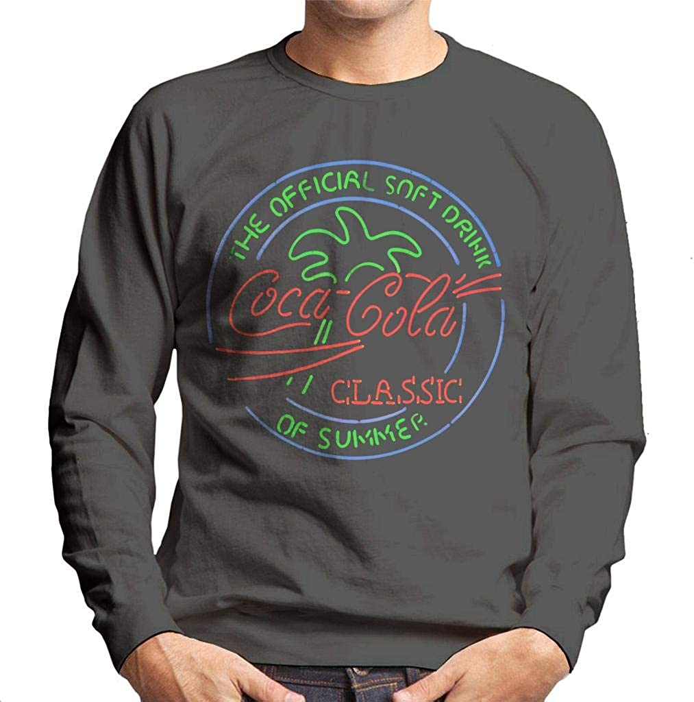 Coca-Cola Neon The Genuine Free Shipping Official Soft Sweatshir Summer Men's Drink of High quality