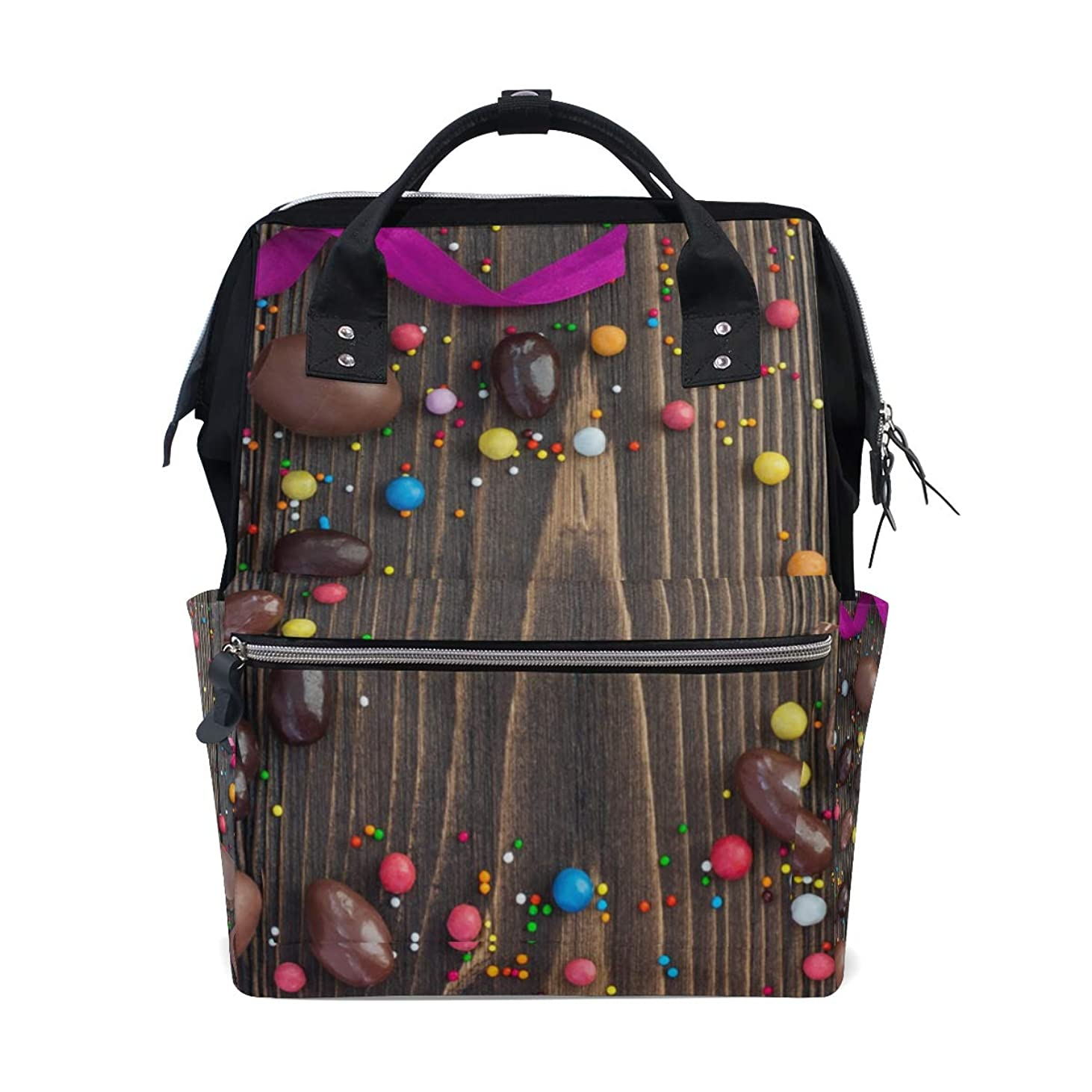 Happy Easter Chocolate Eggs School Backpack Large Capacity Mummy Bags Laptop Handbag Casual Travel Rucksack Satchel For Women Men Adult Teen Children pxhym244199