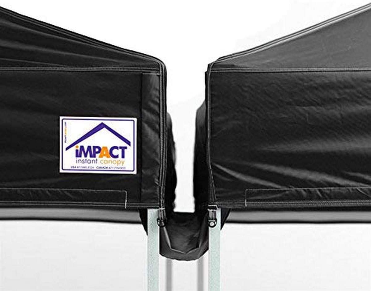 mart Free Shipping Cheap Bargain Gift Impact Canopy 20-Foot Tent Rain Gutter Black