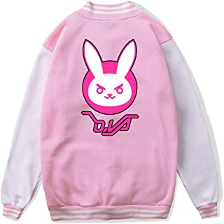 VJJ AIDEAR DVA Bunny Logo Baseball Uniform Jacket Sport Coat Child Long Sleeve Hoodie Outwear Black