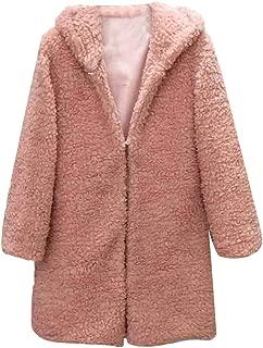 Womens Coats Fuzzy Fleece Overcoats Solid Fashion Open Front Long Cardigan Faux Fur Warm Winter Outwear Jackets