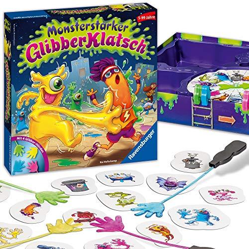 Ravensburger Kinderspiel Monsterstarker Glibber-Klatsch, Gesellschafts- und Familienspiel, für Kinder und Erwachsene, für 2-4 Spieler, ab 5 Jahren
