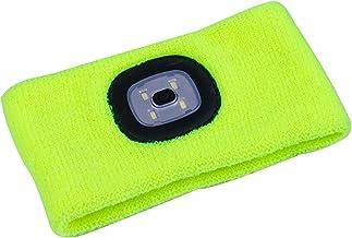 Sebasti LED Hoofd Torch-Fluorescent Geel Running Sport Hoofdband Waterdichte koplamp Waterdichte Koplamp voor Kids Volwass...