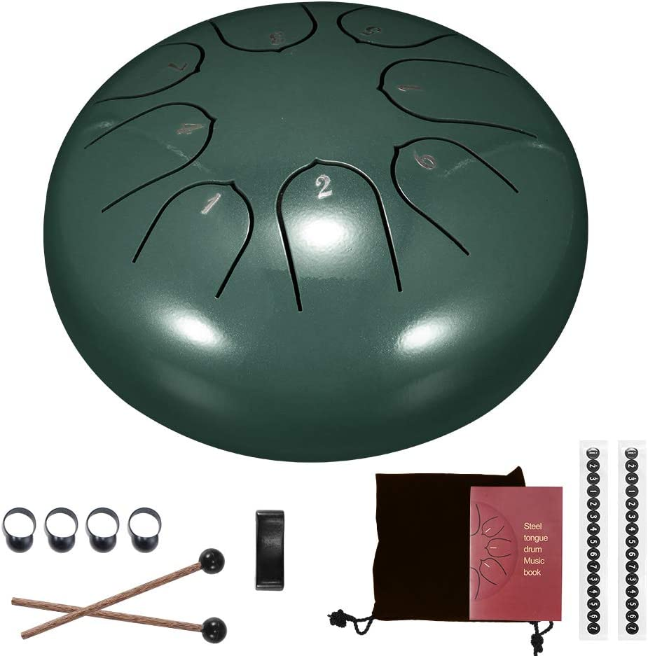 Vvciic 捧呈 Steel Tongue Drum 8 Inches Notes 6 お洒落 Percussion Instrument