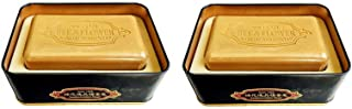Bee & Flower Sandalwood Soaps (Premium Sandalwood with Shea Butter Bar Soap in Metal Tin, 150g x2 Tins)