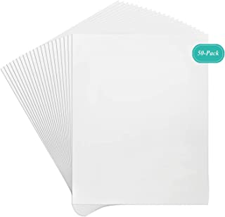 Golden State Art, Pack of 50, 8x10 Inch White Backing Boards