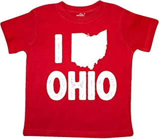 inktastic I Love Ohio with State Silhouette Toddler T-Shirt