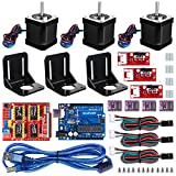 Professional 3D printer CNC Kit, Kuman GRBL CNC Shield+ R3 Board+RAMPS 1.4 Mechanical Switch...
