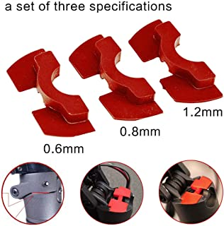 chuancheng 3Pcs Red Rubber Vibration Dampers, Avoid Damping Rubber for Xiaomi M365 Electric Scooter Replacement Part Accessory