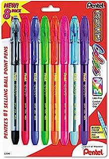 Pentel BK91CRBP8M Ballpoint Pens Assorted R.S.V.P Colors 8 Count