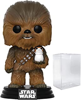 Star Wars: The Last Jedi - Chewbacca with Porg Funko Pop! Vinyl Figure (Includes Compatible Pop Box Protector Case)