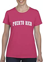 Puerto Rico Women's Short Sleeve T-Shirt (XLHP) Heliconia Pink