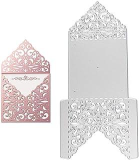 VINFUTUR Dies de Découpe Scrapbooking Matrice de Découpe Carte Invitation Enveloppe Décoration Bricolage Carte pour Fête M...