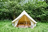 3M Tente Cloche avec fermeture éclair en sol. Toile 100% coton. Tente Cloche pour les couples, festivals ou amis. Bell Tente pour camping tente Cloche. Pour le jardin. Excellente valeur.