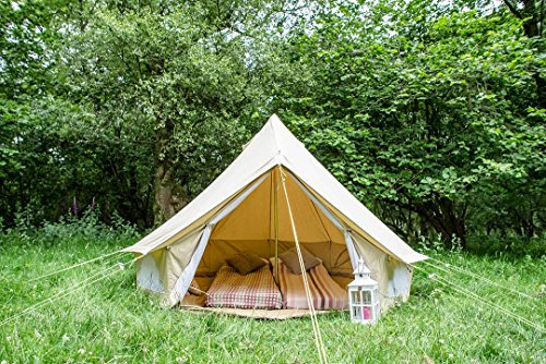 3M Bell Zelt mit Reißverschluss in Bodenplane. 100% Baumwolle. Bell Zelt für Paare, Festivals oder Freunde. Bell Zelt für Camping. Bell Zelt für den Garten. Hervorragende Wert.