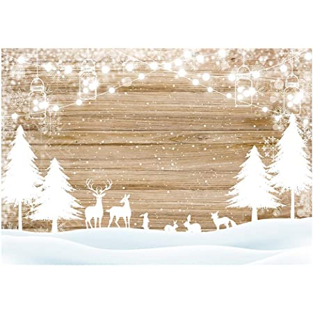 7x5ft Snow World Backdrop Snowfield Pine Trees Forest Cloud Sunshine Baby Shower Kids Children Adults Happy Birthday Girl Portrait Shooting Vinyl Photo Backcloth Screen
