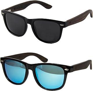 10b5241479 WOLA gafas de sol negras - lentes mujer y hombre unisex, ICE en madera y