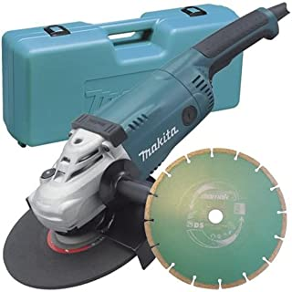 Angle Grinder 230mm 2,000W Paddle Switch (with Diamond Blade, Cary Case)