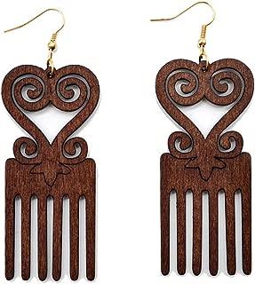 Best african wood earrings Reviews