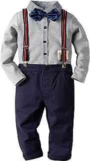 Moli&Hani 子供フォーマル 男の子 紳士服 かっこいい フォーマル キッズ yシャツ ズボン ネクタイ 3点セット 入学式 入園式 撮影