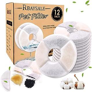 RBAYSALE Filtre pour Fontaine à Chat , 12PCS Filtres de Fontaine à Eau Remplacement Round Rechange Filtre de Chien/Chat , ...
