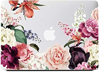 Lapac MacBook Air 13 Inch Clear Case 2019 2018 Release A1932, Soft Touch Hard Shell Case & Retina Display Fits Touch ID with Keyboard Cover (Rose Flower(A1932))