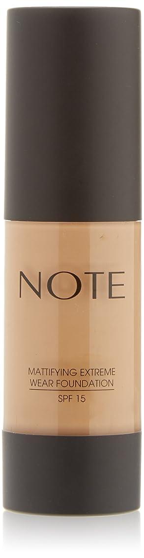 低下拾う寸前NOTE Cosmetics 艶消しExtremeは財団ポンプを着用し、1.18液量オンス 第08