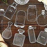 BLOUR 30 unids/Set Encantadoras Botellas de Vidrio de Perfume DIY Etiqueta Adhesiva para Diario Scrapbooking Pegatina Manual decoración Pegatinas Kawaii