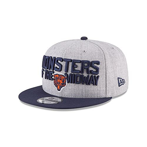 New Era Authentic Chicago Bears Heather Gray Navy 2018 NFL Draft Official  On-Stage c0cc9ee2c