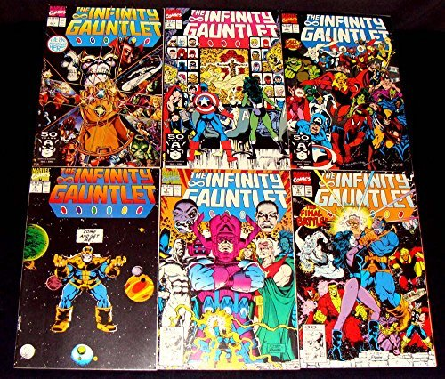 Infinity Gauntlet Complete Limited Series #1-6 (1991) Thanos Avengers Movie image