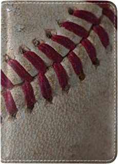 ALAZA Shabby Baseball Sport PU Leather Passport Holder Cover Case Travel One Pocket