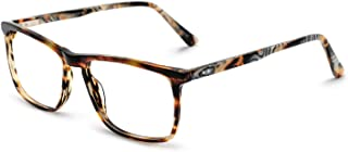 OCCI CHIARI Men Fashion Rectangle Anti Blue Light Eyewear Frame With Non-Prescription Clear Lens