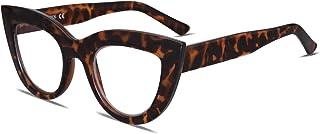 SOJOS Blue Light Blocking Glasses Retro Vintage Cateye Eyeglasses for Women Plastic Frame Hipster Party SJ5025