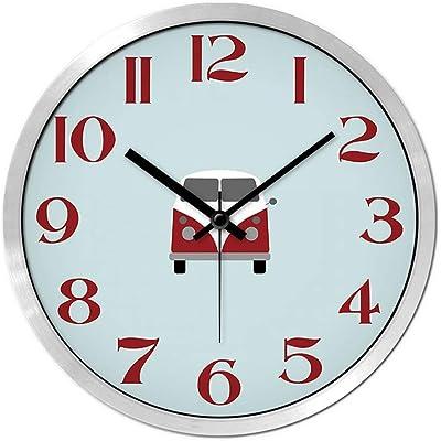 LUBANG Clock Childrens Room Clock American Mediterranean Pastoral Wind Mute Watch Child Wall Clock, 14