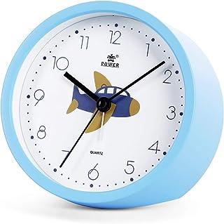 Laigoo Kids Analog Alarm Clock Non-Ticking丨Bedside Alarm Clock Travel Desktop Clock Silent Shelf Clocks Battery Operated w...