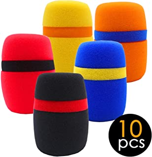 BAISDY 10Pcs Foam Mic Cover Thick Microphone Cover Mic Windscreen Cover for KTV Karaoke