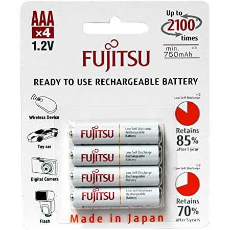 Fujitsu Wiederaufladbare Akku Weiß Elektronik