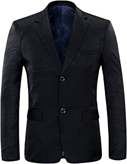 Allthemen Mens Slim Fitted 2 Button Casual Blazer Single Breasted Jacket