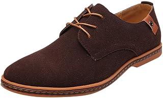 riou Zapatos Casuales de Hombre con Cordones Zapatos de Negocios Zapatos Oxford Moda Cuero Sólido Sneakers Negro Azul Gris...
