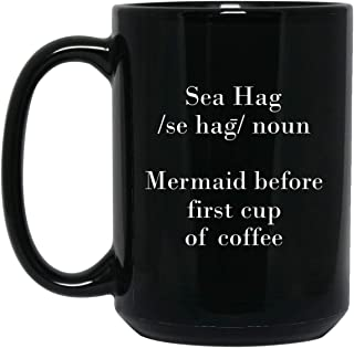 Sea Hag Coffee 15 oz. Black Mug