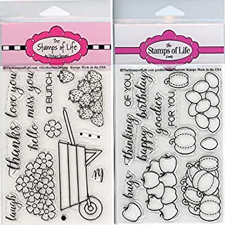 Wheelbarrow Fall Stamps for Card-Making and Scrapbooking - Wheelbarrow2 and Goodies4Wheelbarrow Combo Pack by The Stamps of Life
