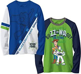 Disney Toy Story Boys Multicolored Toys Story Movie Characters Long Sleeve Tees, 2 Pack