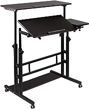 Hadulcet Mobile Standing Desk, Rolling Table Adjustable Computer Desk, Stand Up Laptop Desk Mobile Workstation for Home Of...