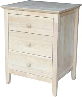 International Concepts BD-8013 Nightstand with 3 Drawers, Standard
