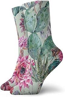 Dydan Tne, Calcetines Florales de Flores de Cactus Divertidos para niñas y niños