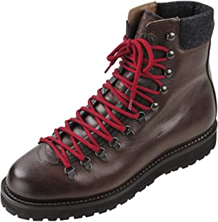 BRUNELLO CUCINELLI Chaussures Homme Marron Sombre 100% Cuir Bottes de Combat 44
