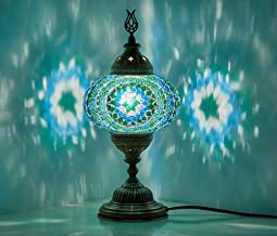 (10 Colors) Turkish Moroccan Handmade Mosaic Tiffany Table Desk Bedside Lamp Lampshade for AU Use with AU Plug & AU Socket...